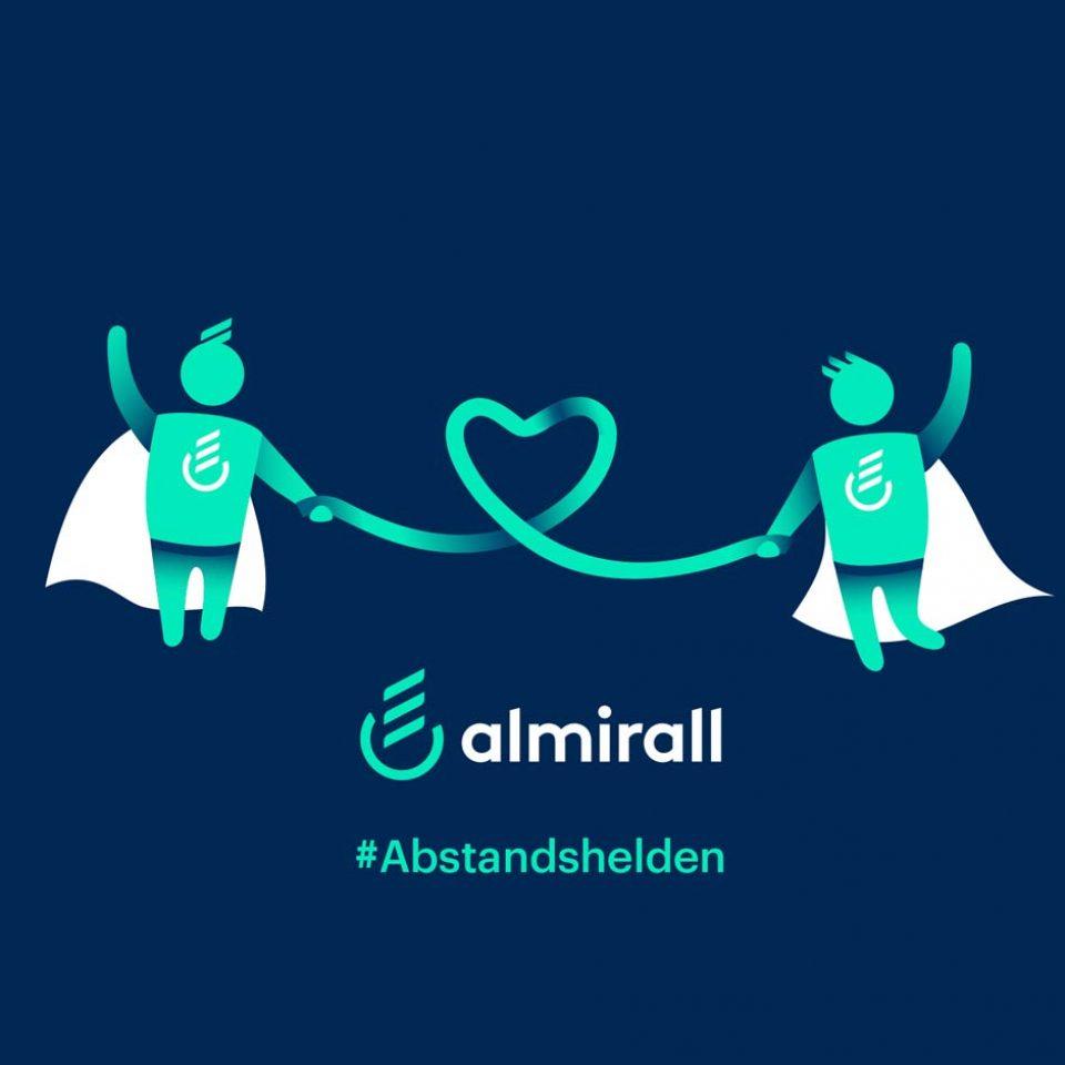 Referenz Kunde Almirall Abstandshelden by BrandGarden
