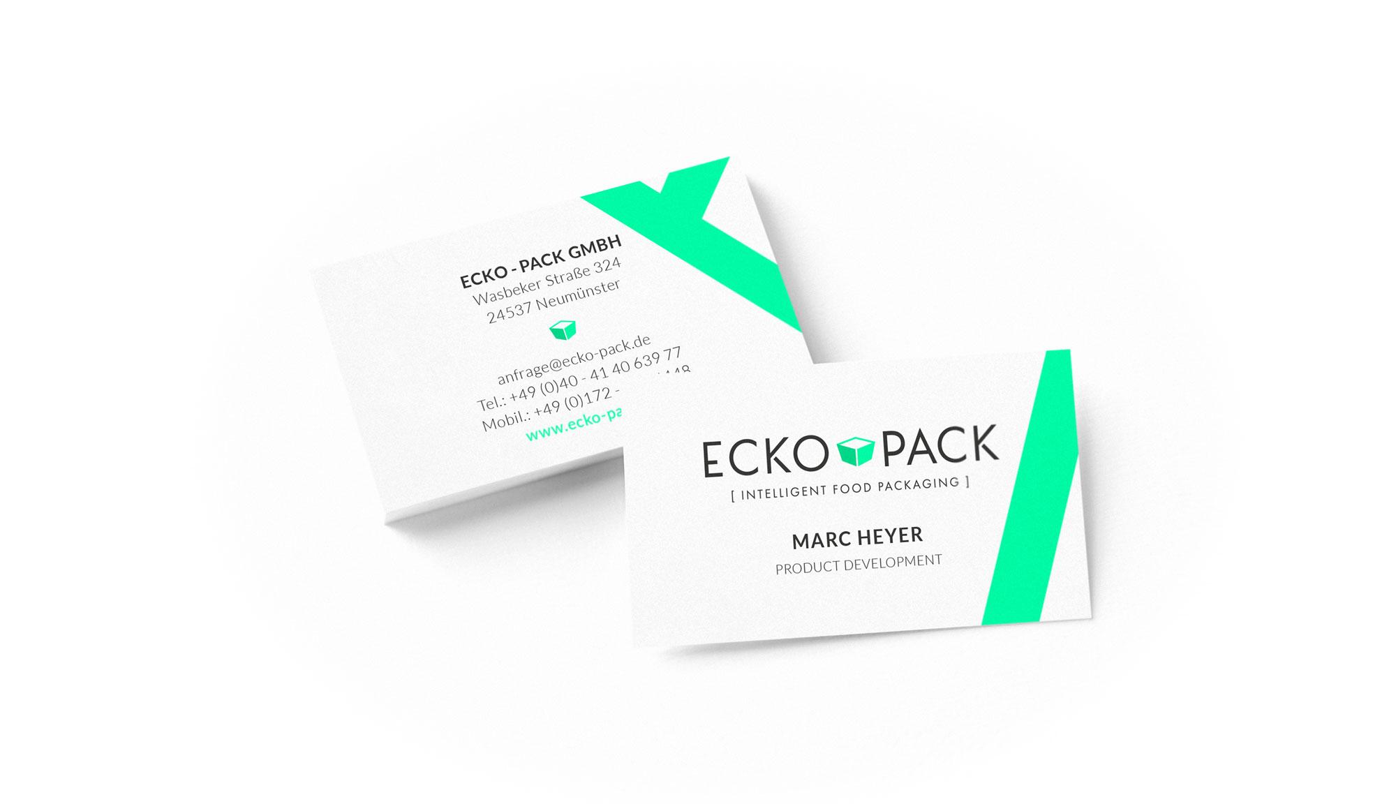 Referenz Kunde Ecko-Pack Intelligent Food Packaging Visitenkarte