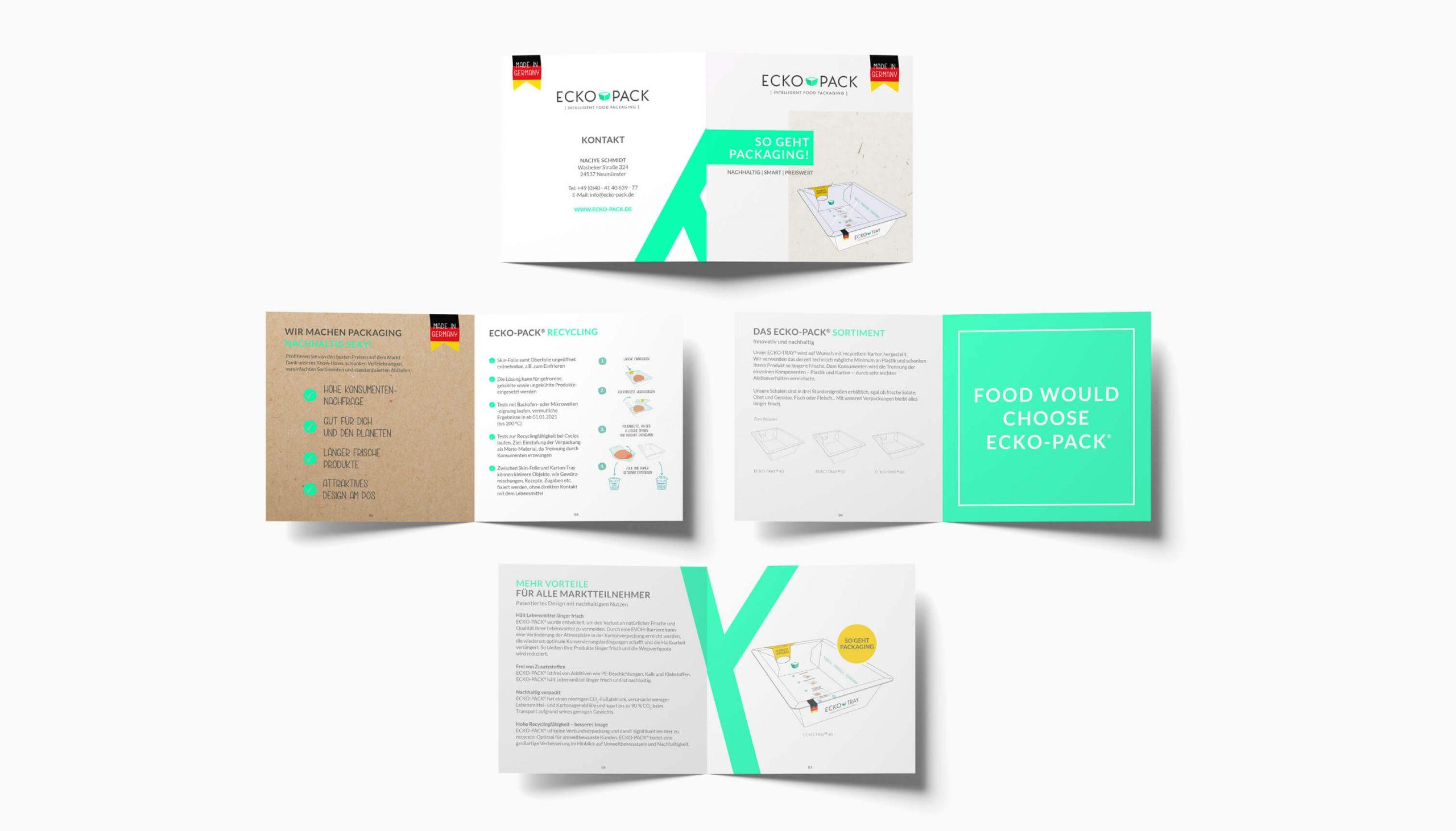Referenz Kunde Ecko-Pack Intelligent Food Packaging Flyer